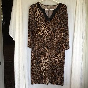 Chico's wild cat print dress large/ Sz. 2